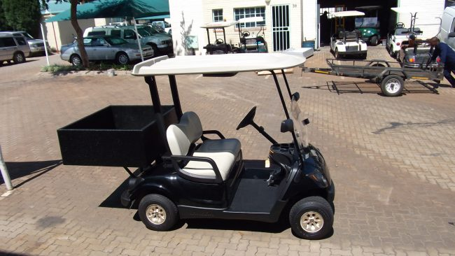 Pro Yamaha Golf Cars Saxon Black Rear Bin