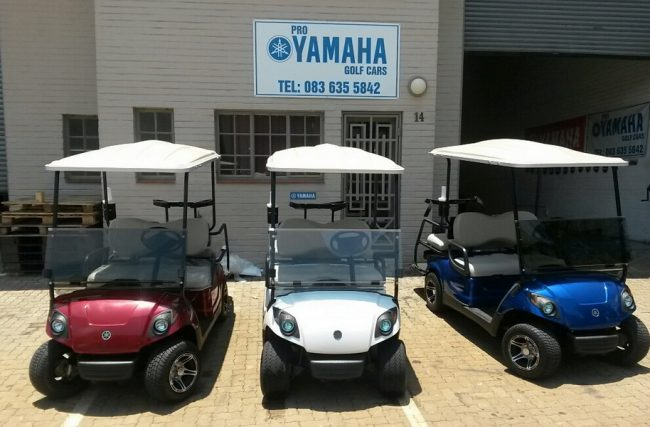 Pro Yamaha Golf Cars in a variety of colours